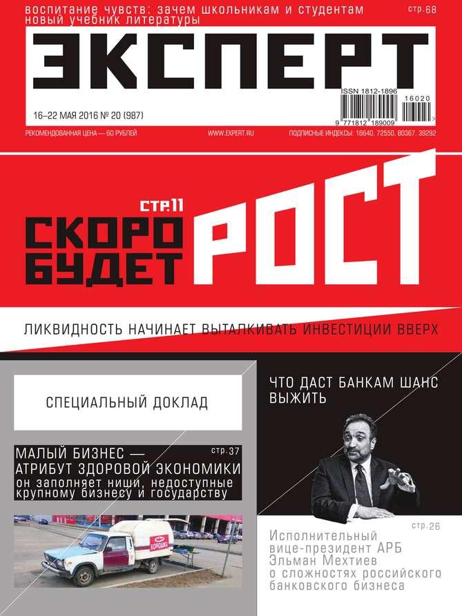 Редакция журнала Эксперт Эксперт 20-2016 детство лидера
