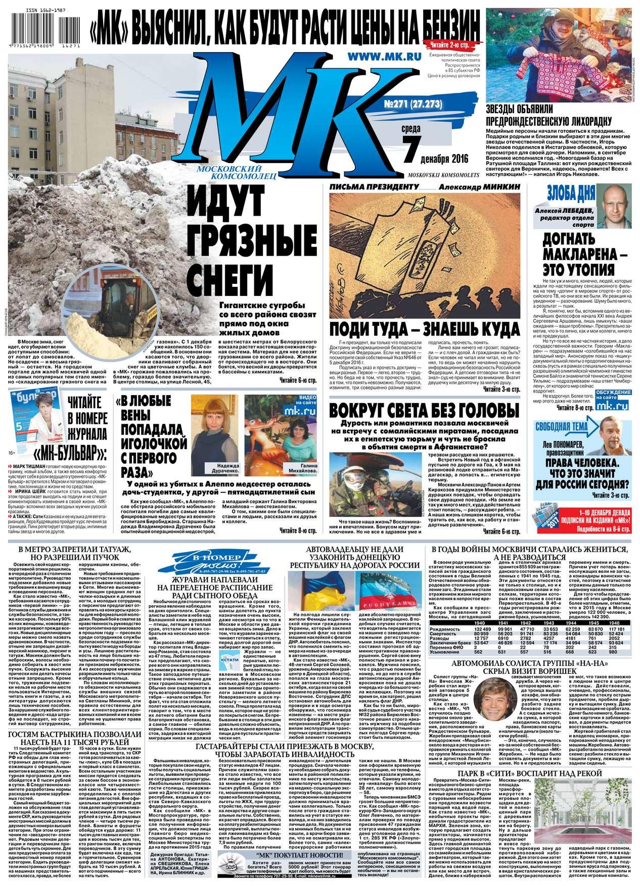 Редакция газеты MK Moskovskii Komsomolets МК Московский комсомолец 271-2016 илья деревянко кащеева могила