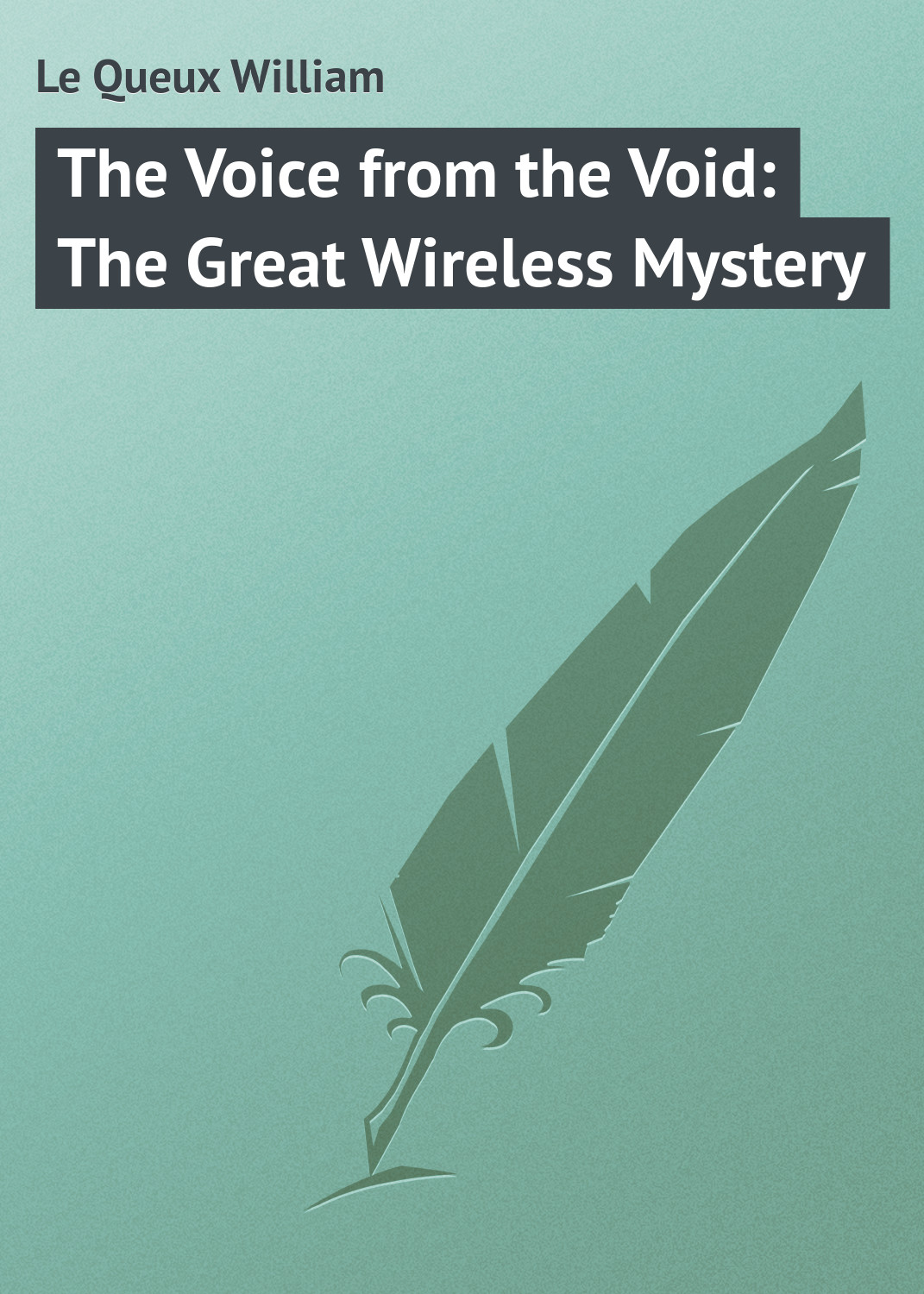 Le Queux William The Voice from the Void: The Great Wireless Mystery anna b bensel a voice from the silence