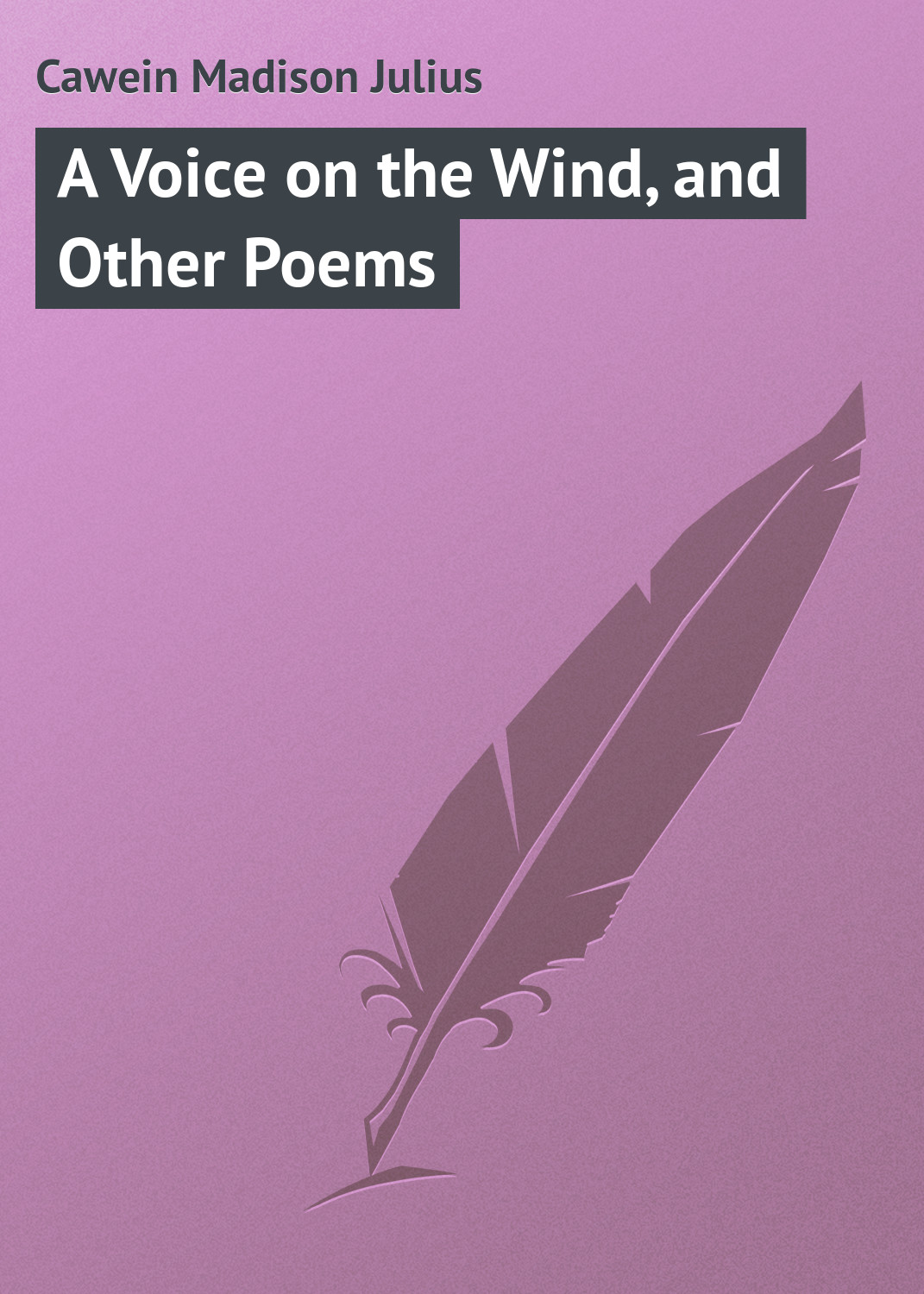 Cawein Madison Julius A Voice on the Wind, and Other Poems цена