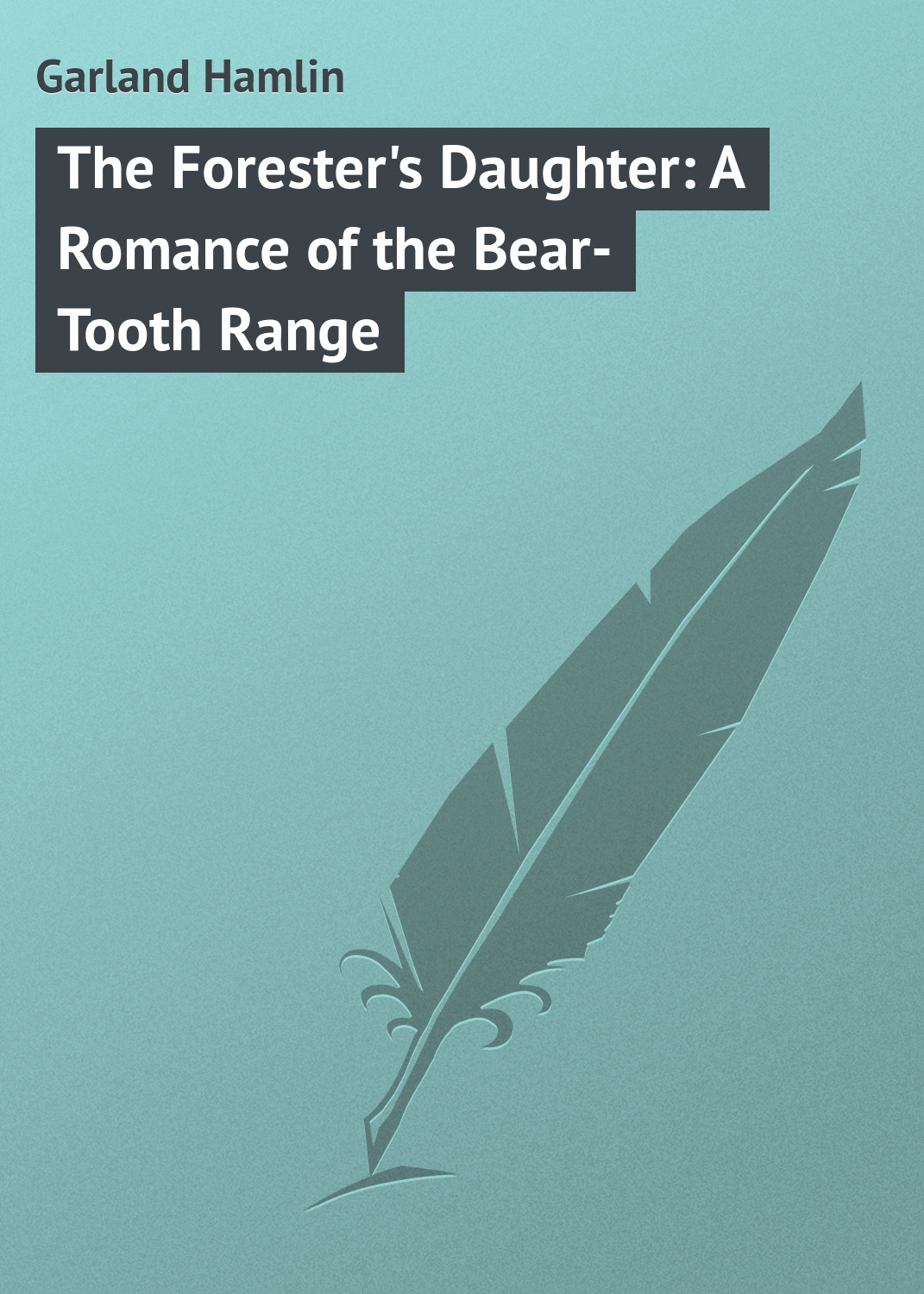 Garland Hamlin The Forester's Daughter: A Romance of the Bear-Tooth Range