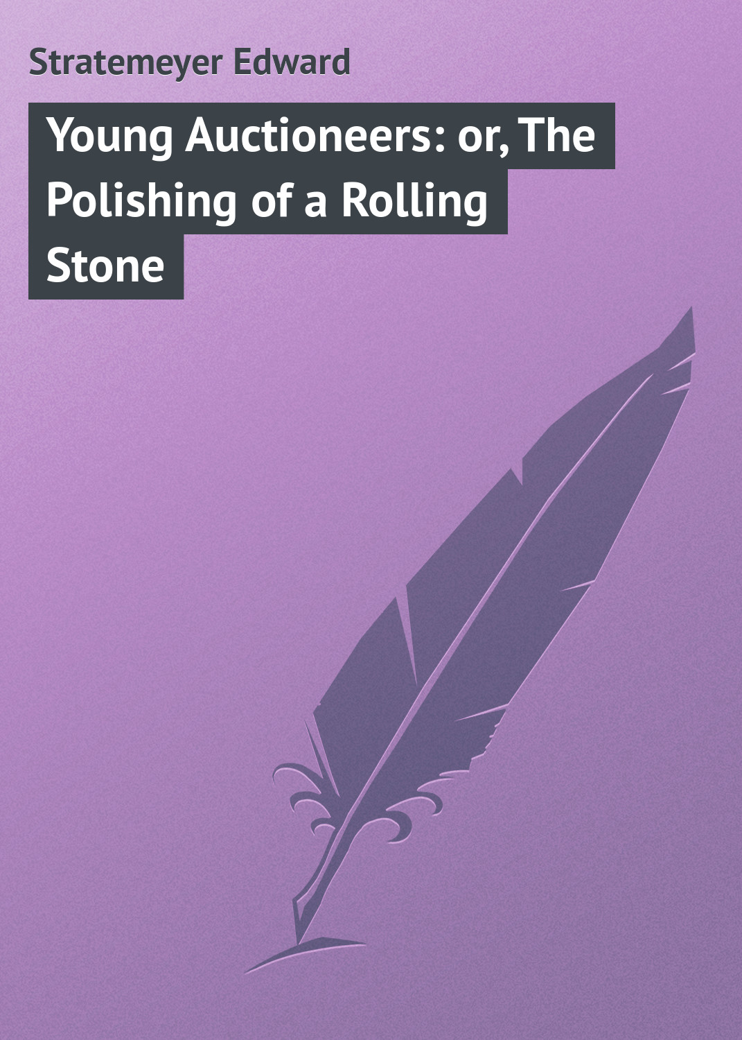 Stratemeyer Edward Young Auctioneers: or, The Polishing of a Rolling Stone