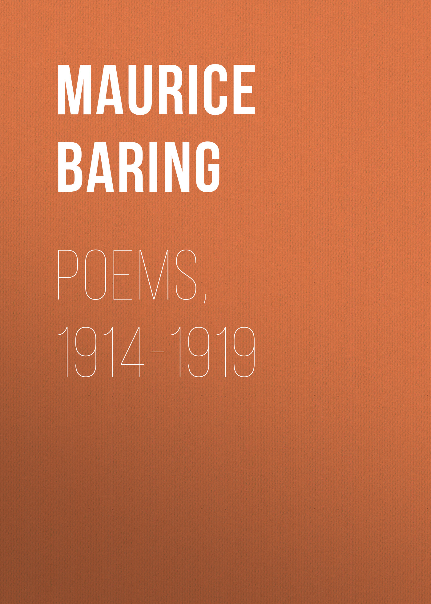 Baring Maurice Poems, 1914-1919