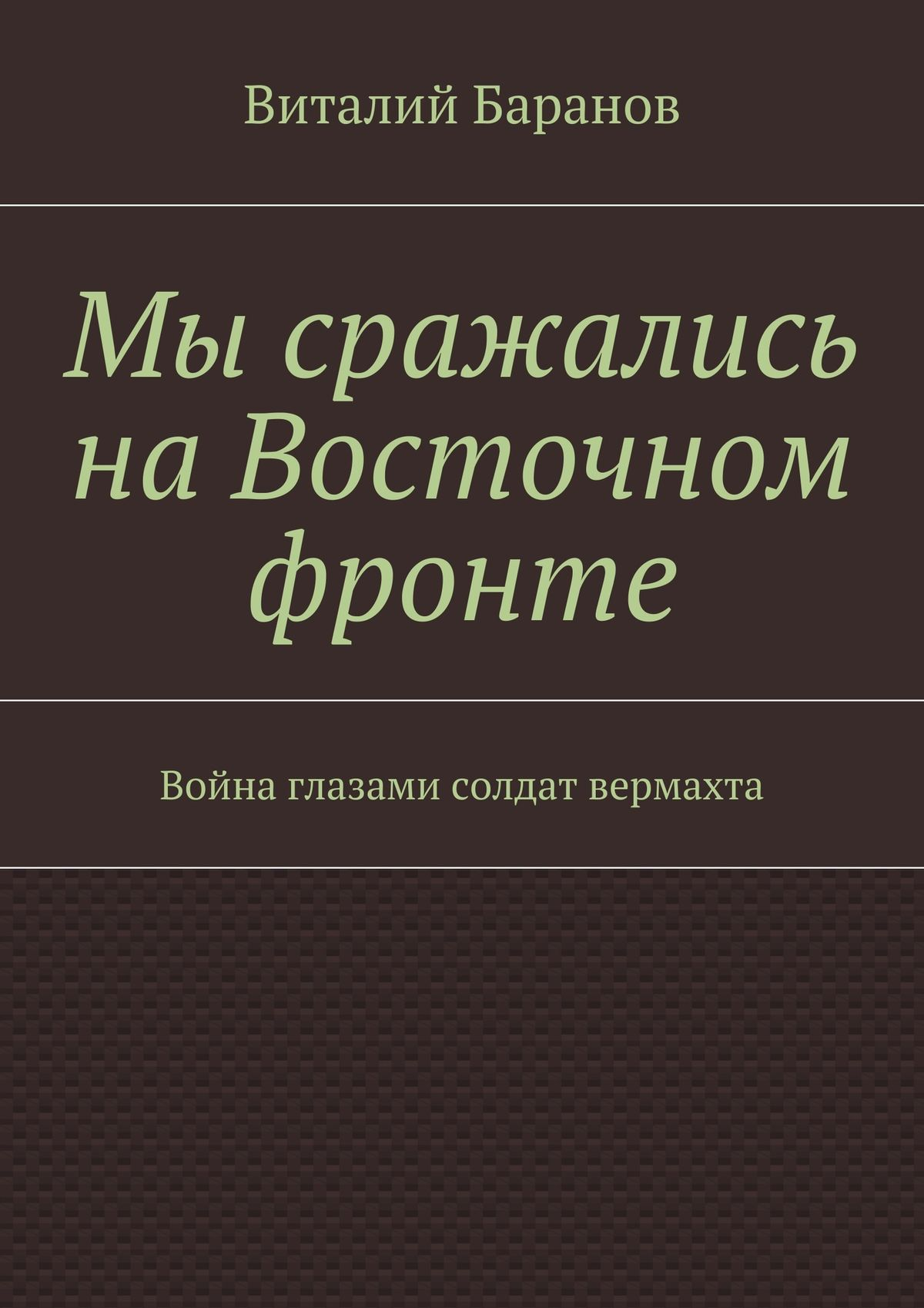 Виталий Баранов Мы сражались наВосточном фронте. Война глазами солдат вермахта виталий баранов сбоевого задания не