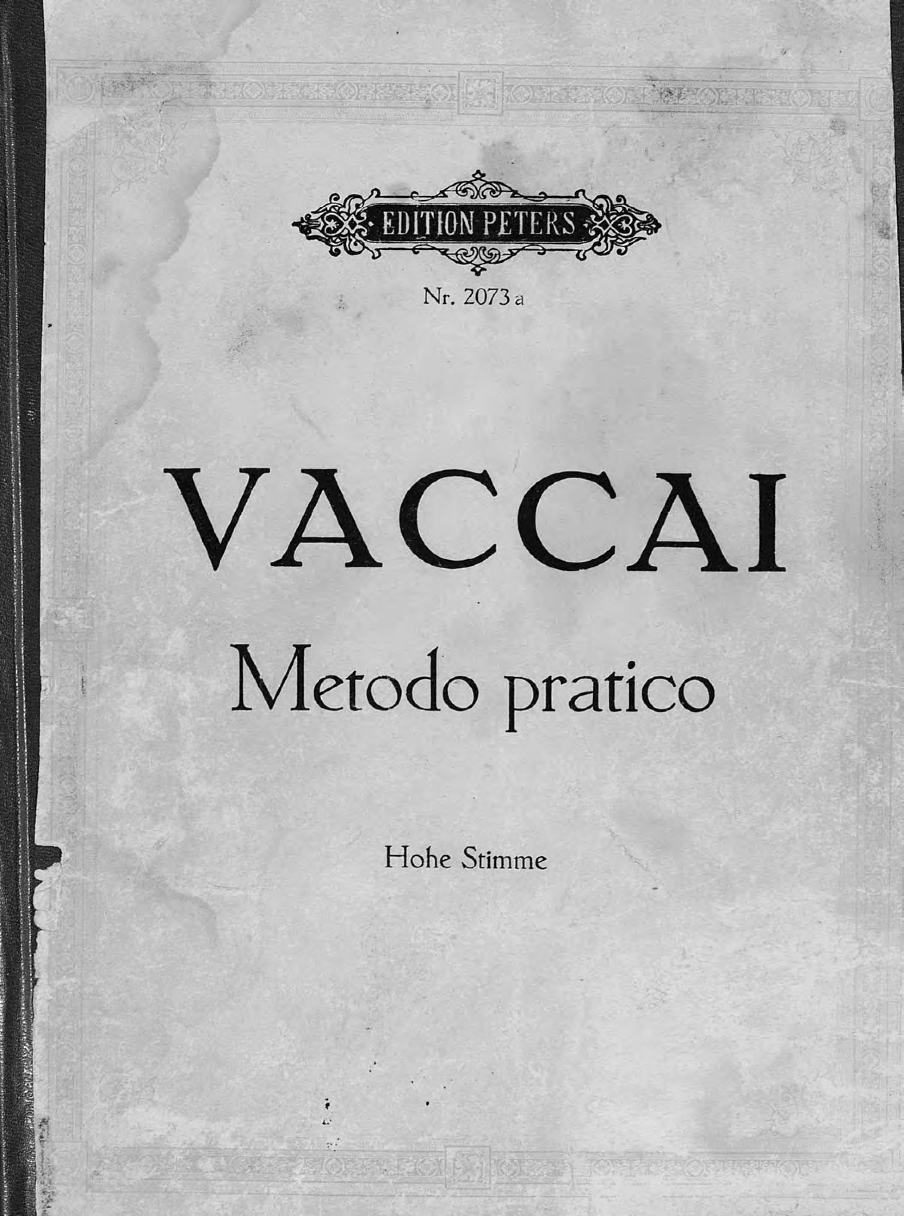 Никола Ваккаи Praktische Schule des italienischen Gesanges v. N. Vaccai
