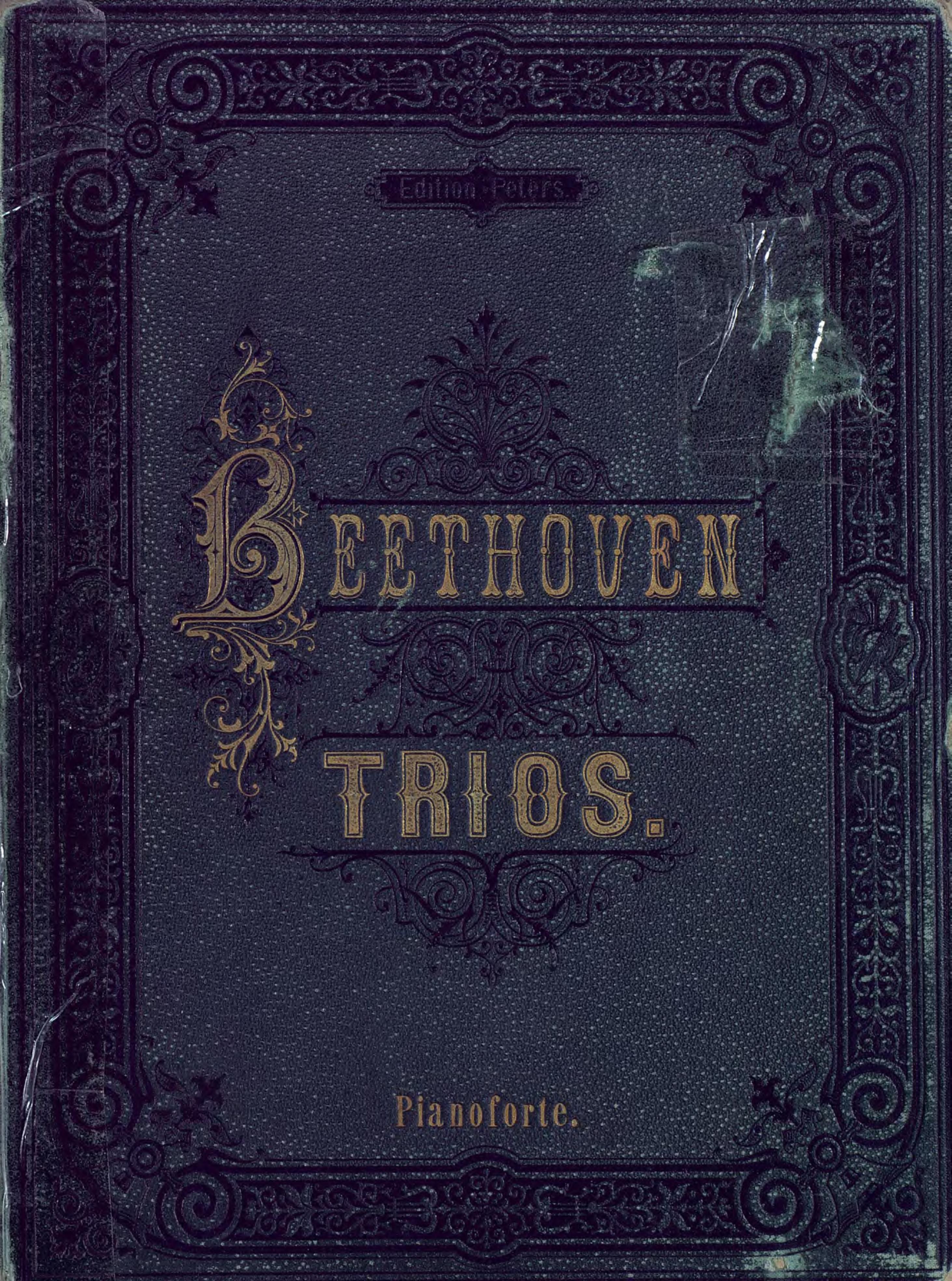 Людвиг ван Бетховен Trios fur Pianoforte, Violine und Violoncell v. L. van Beethoven джузеппе верди quartett fur 2 violinen viola und violoncell v g verdi e moll