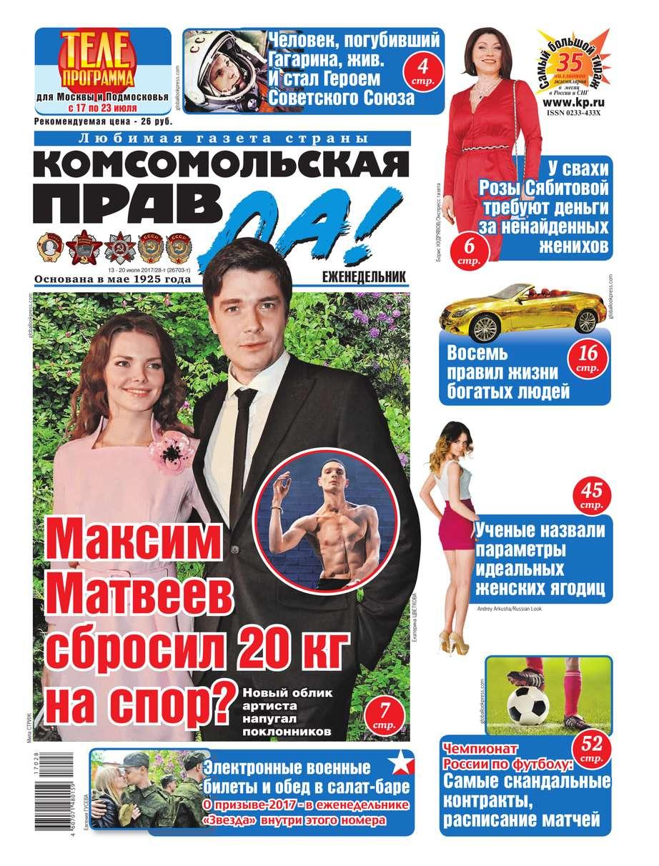 Комсомольская Правда (толстушка – Россия) 28т-2017