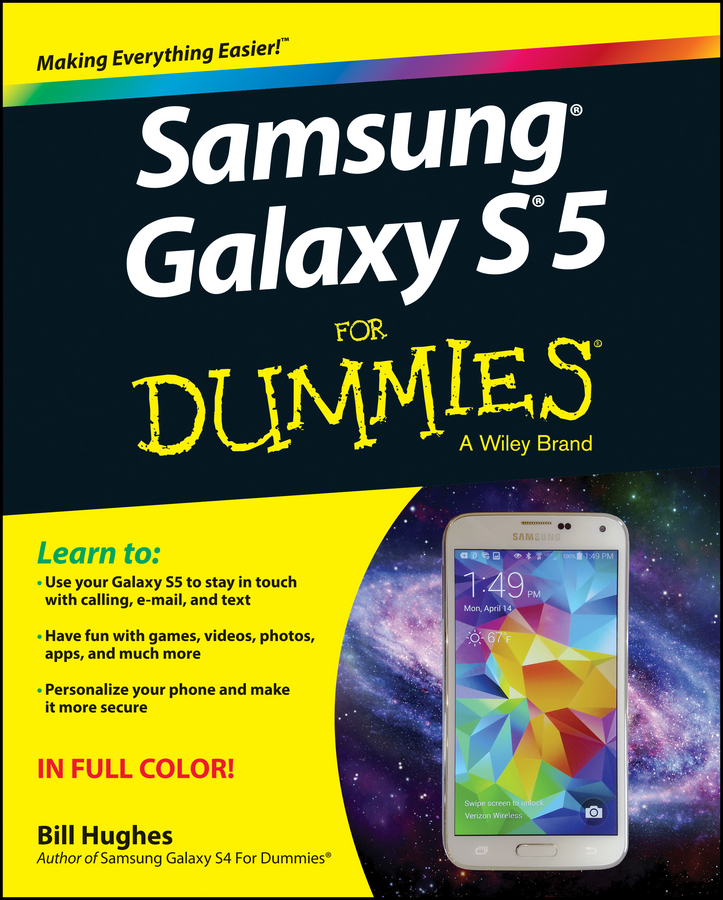 Bill Hughes Samsung Galaxy S5 For Dummies 3 in 1 cover case for samsung galaxy s5