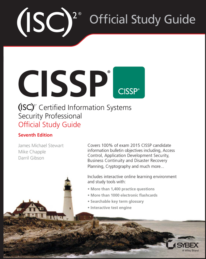 Darril Gibson CISSP (ISC)2 Certified Information Systems Security Professional Official Study Guide new safurance digital electronic key less keypad security entry door lock reversible handle building automation access control