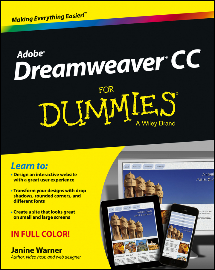 Janine Warner Dreamweaver CC For Dummies sue jenkins web design all in one for dummies