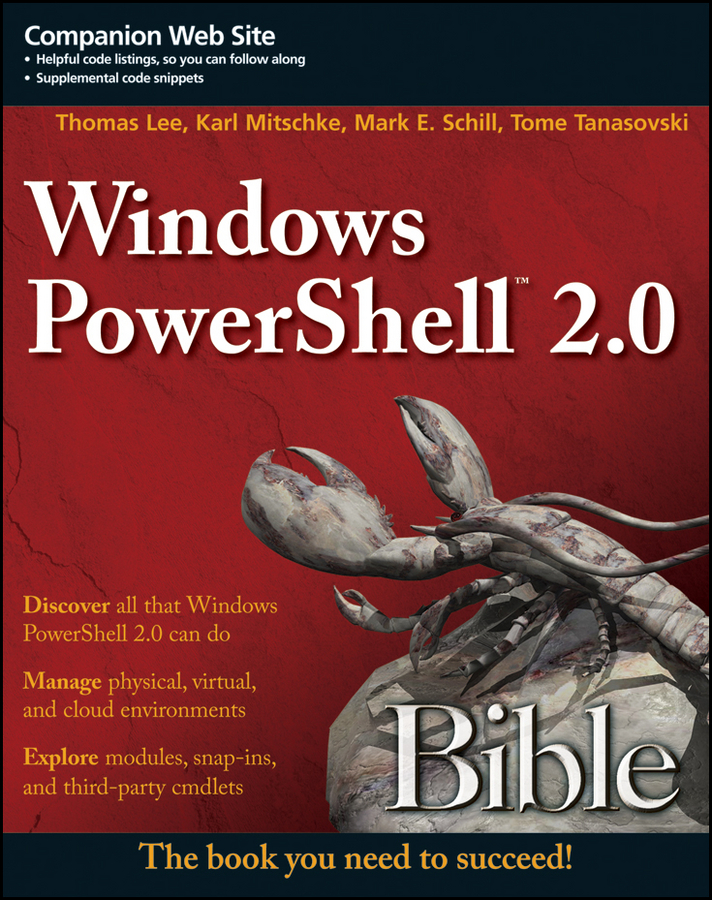 Tome Tanasovski Windows PowerShell 2.0 Bible steve seguis windows powershell 2 for dummies