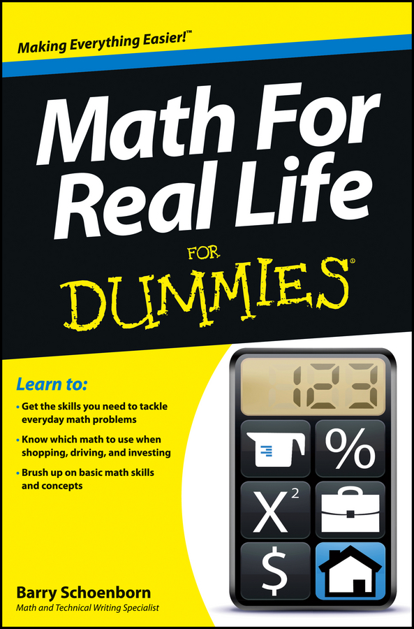 Barry Schoenborn Math For Real Life For Dummies mcat physics and math review