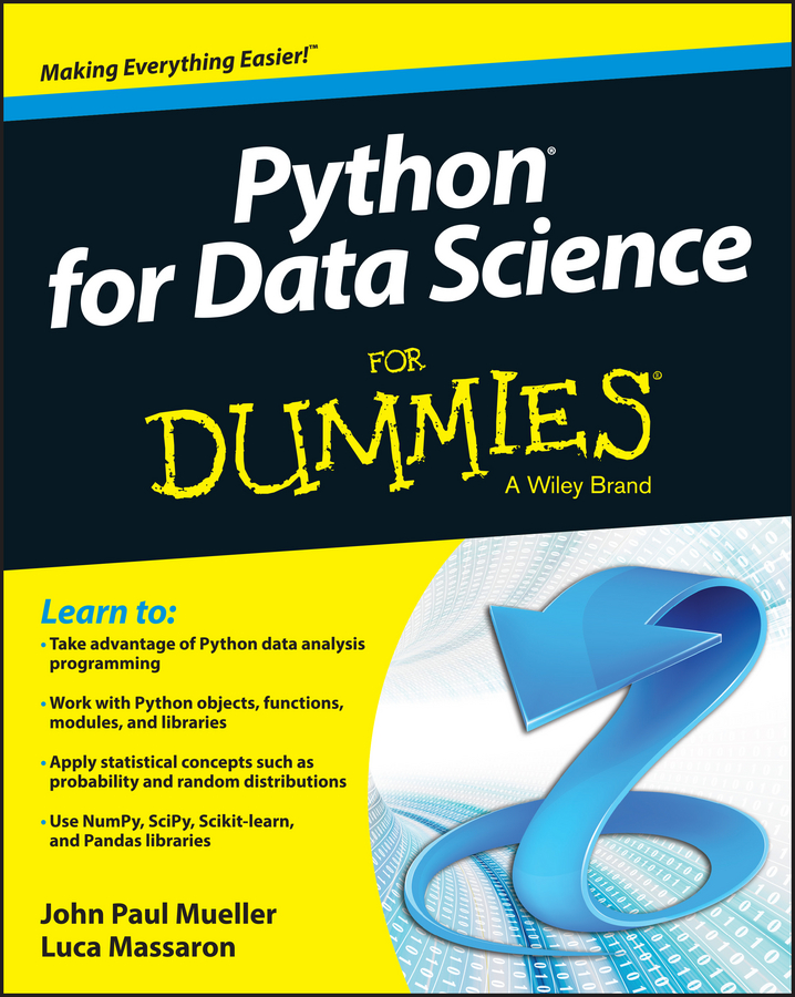 Luca Massaron Python for Data Science For Dummies alan anderson statistics for big data for dummies