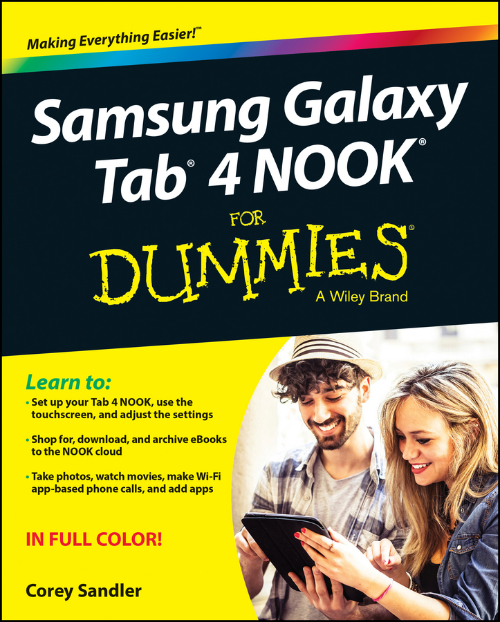 Corey Sandler Samsung Galaxy Tab 4 NOOK For Dummies ali luke publishing e books for dummies