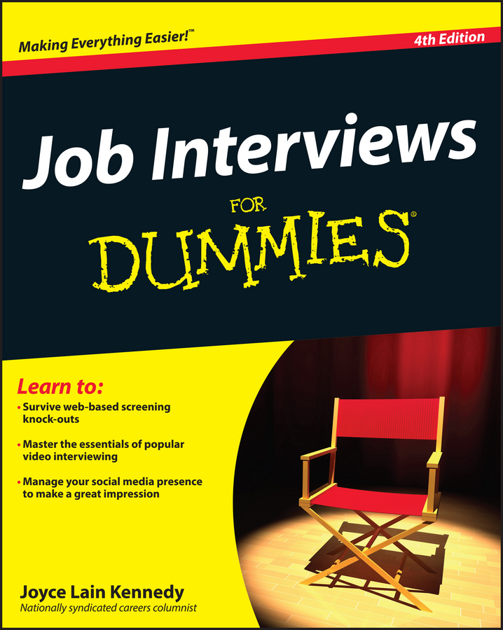 Joyce Lain Kennedy Job Interviews For Dummies цена