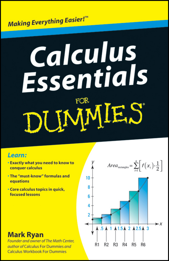 Mark Ryan Calculus Essentials For Dummies mary sterling jane algebra ii essentials for dummies