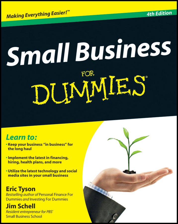 Eric Tyson Small Business For Dummies faith glasgow small business finance all in one for dummies