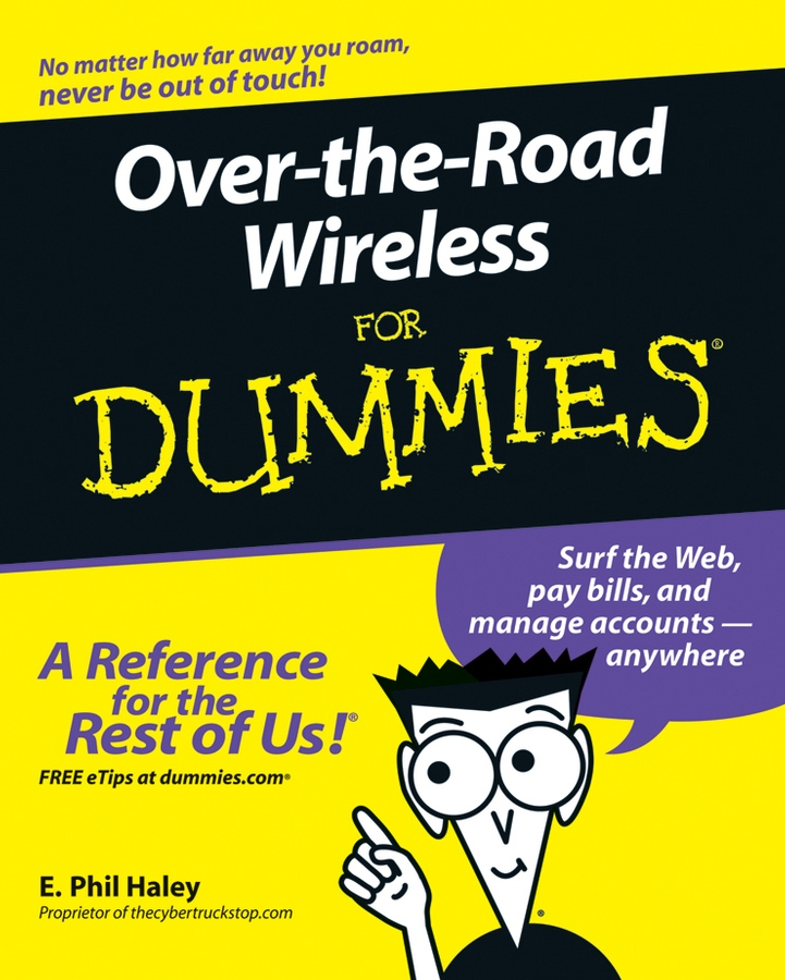 E. Haley Phil Over-the-Road Wireless For Dummies laptop palmrest