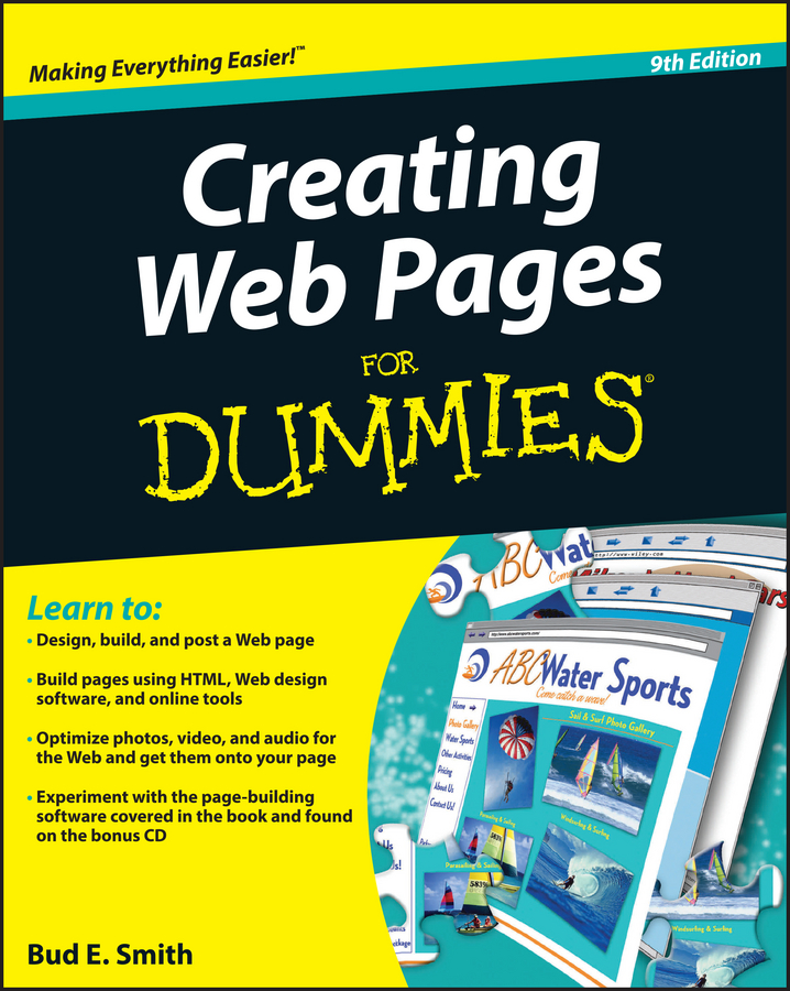 Bud Smith E. Creating Web Pages For Dummies sitemap html page 10 page 6 page 9