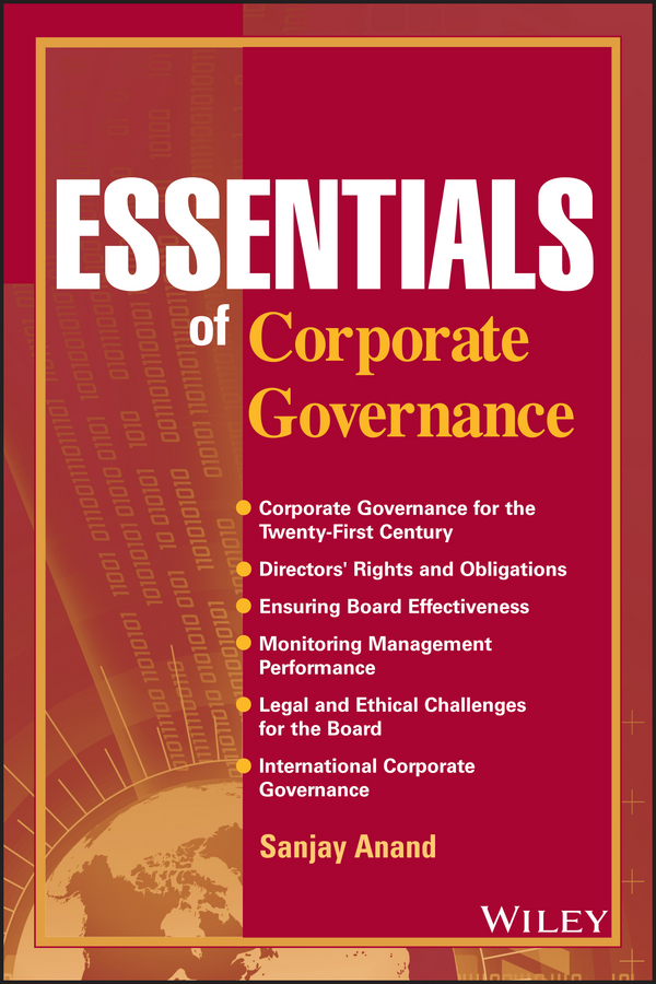 Sanjay Anand Essentials of Corporate Governance minow nell corporate governance