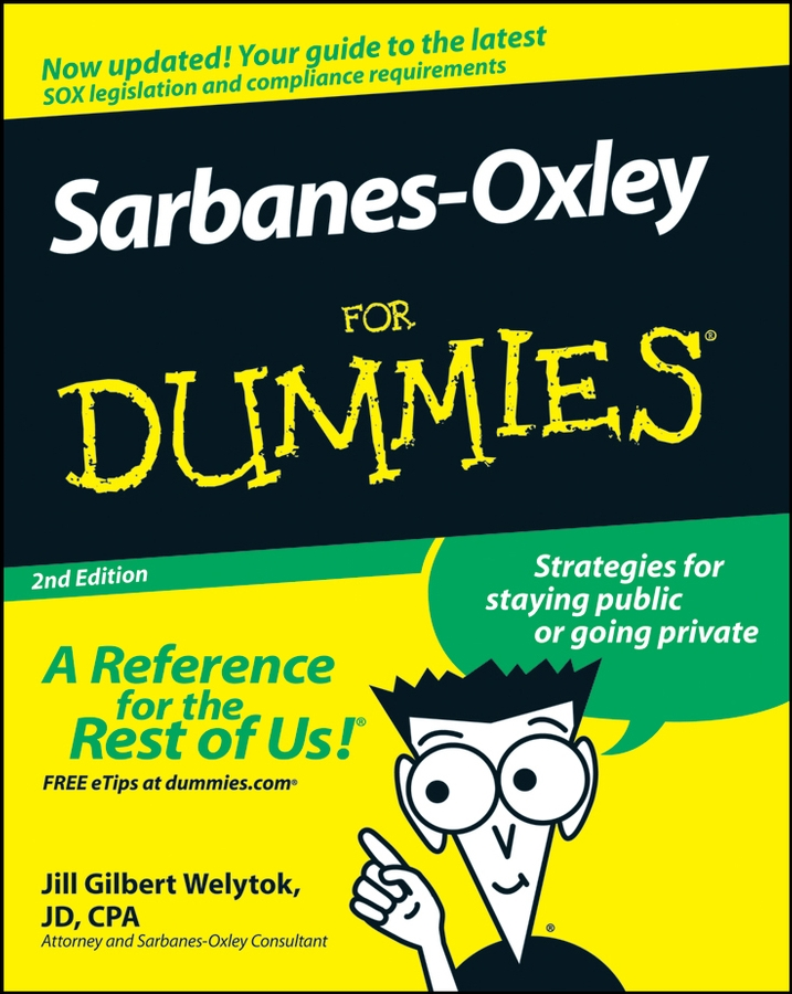 Jill Welytok Gilbert Sarbanes-Oxley For Dummies emissions reduction nox sox suppression