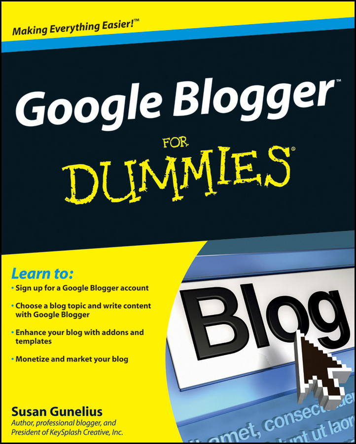 Susan Gunelius Google Blogger For Dummies kaylee berry fashion blog planner journal style blogging never run out of things to blog about again
