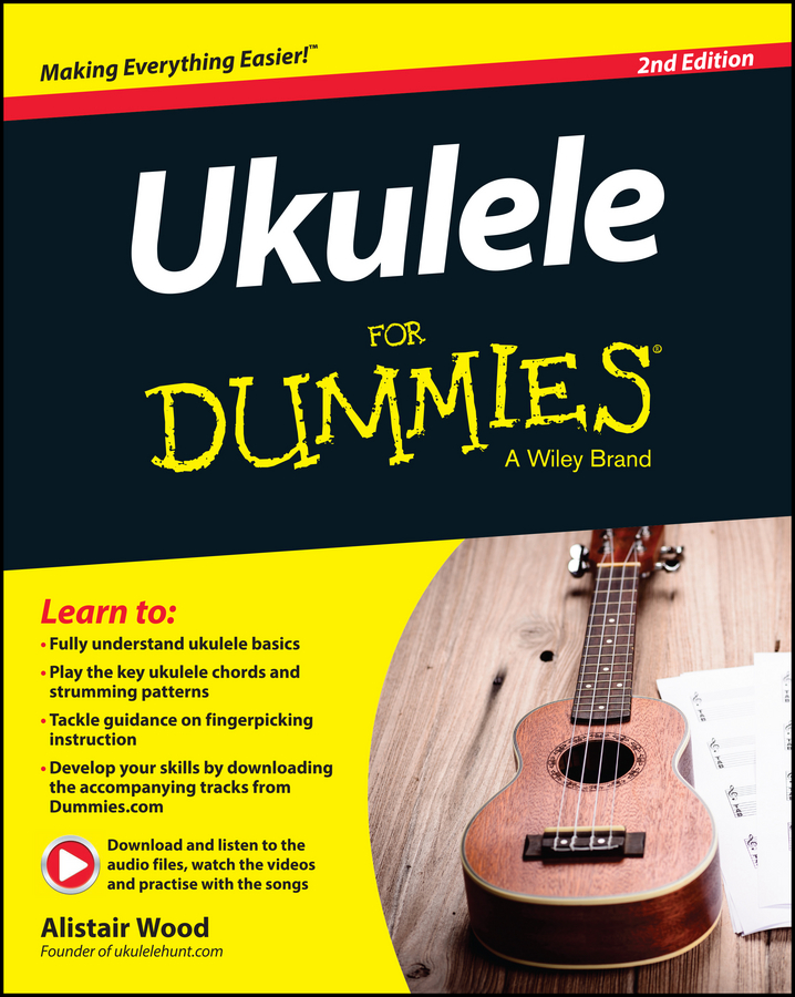 Alistair Wood Ukulele For Dummies 26inch ukulele hawaiian 4 strings mini guitar mahogany for beginner player