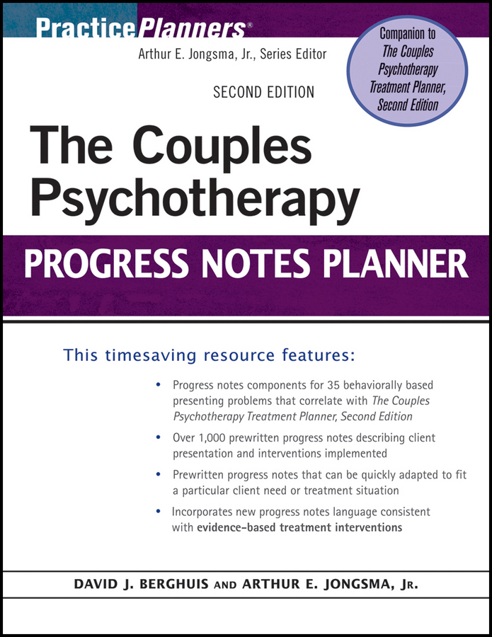 Berghuis David J. The Couples Psychotherapy Progress Notes Planner