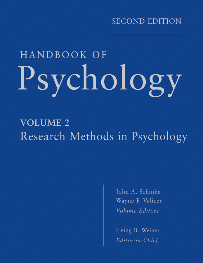 Irving Weiner B. Handbook of Psychology, Research Methods in Psychology hersen michel handbook of evidence based practice in clinical psychology adult disorders