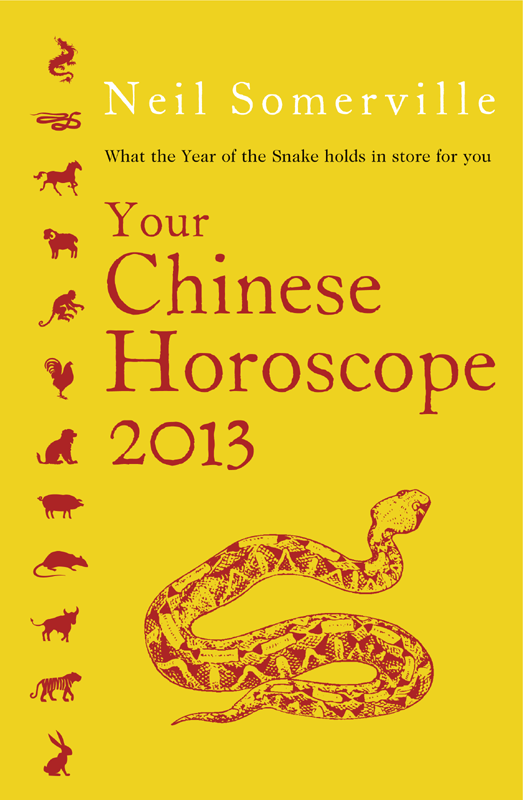 Neil Somerville Your Chinese Horoscope 2013: What the year of the snake holds in store for you the year of the virgins