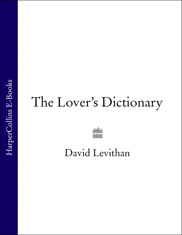David Levithan The Lover's Dictionary: A Love Story in 185 Definitions недорого