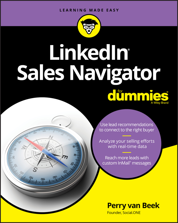 Perry Beek van LinkedIn Sales Navigator For Dummies donna serdula linkedin profile optimization for dummies
