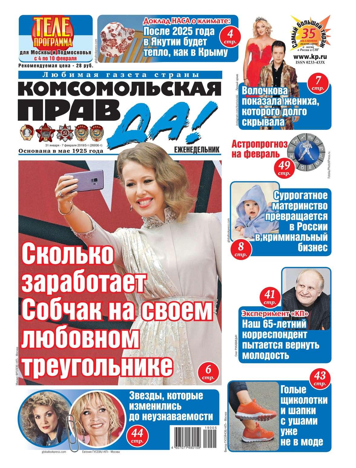 Комсомольская Правда (толстушка – Россия) 05т-2019