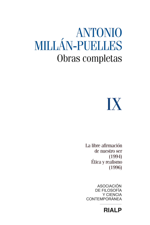 Antonio Millán-Puelles Millán-Puelles. IX. Obras completas david millán escrivá robert laganiere opencv 4 computer vision application programming cookbook