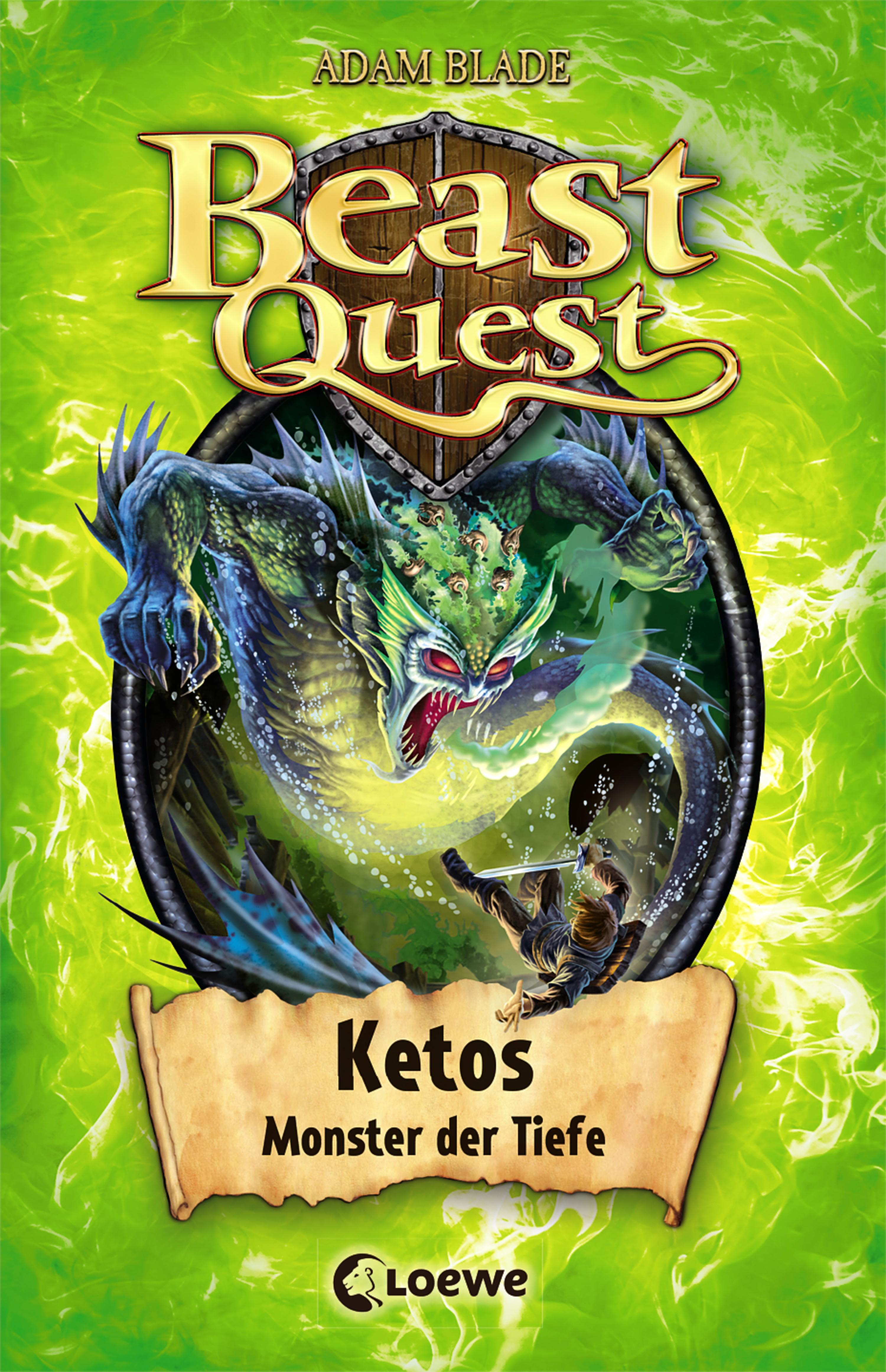 цена Adam Blade Beast Quest 53 - Ketos, Monster der Tiefe