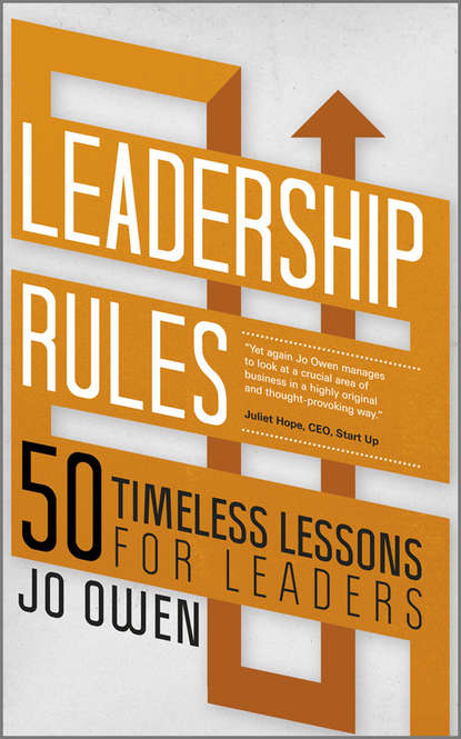 jo owen management rules 50 new rules for managers Jo Owen Leadership Rules. 50 Timeless Lessons for Leaders