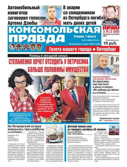 Редакция газеты Комсомольская Правда. Санкт-Петербург Комсомольская Правда. Санкт-Петербург 85-2018