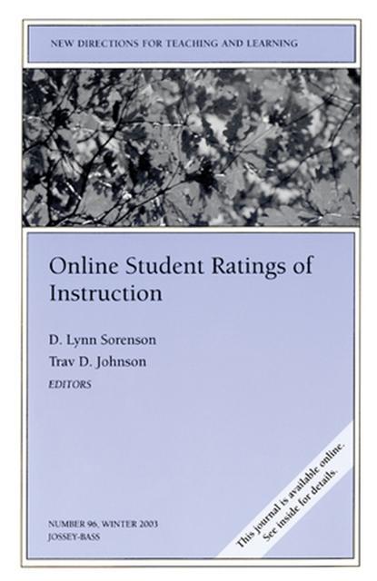 Фото - D. Sorenson Lynn Online Student Ratings of Instruction cross cultural online instruction