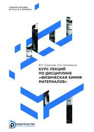Курс лекций по дисциплине «Физическая химия материалов»
