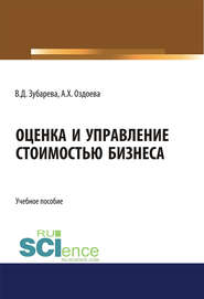 Оценка и управление стоимостью бизнеса