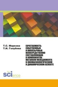 Сочетаемость собственных и иноязычных непосредственно составляющих в компонентах мегаполя менеджмента в ономасиологическом и динамическом аспекте. (Бакалавриат, Магистратура, Специалитет). Монография.