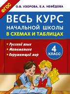 Весь курс начальной школы в схемах и таблицах. Русский язык, математика, окружающий мир. 4 класс